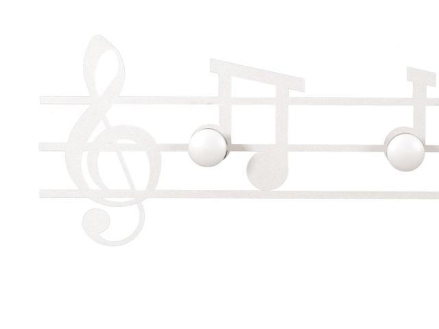 ArtieMestieri Appendiabiti Musica Bianco part thumb