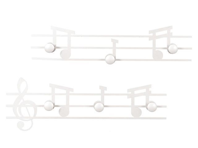 ArtieMestieri Appendiabiti Musica Bianco thumb