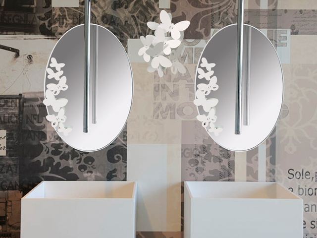 Specchio ovale arti e mestieri butterfly specchio ovale ingresso
