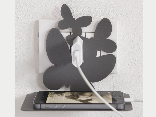 Porta Posta Arti E Mestieri.Porta Cellulare Da Parete Arti E Mestieri Farfalle