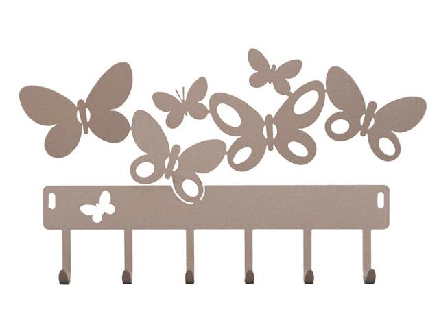 Portachiavi da parete arti mestieri farfalle butterfly - Portachiavi da parete design ...