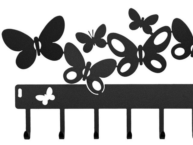 ArtieMestieri portachiavi Butterfly nero thumb