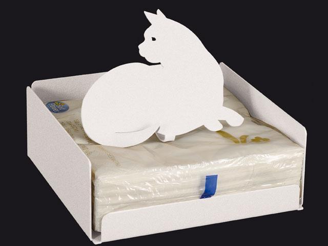 ArtieMestieri portatovaglioli Gatto bianco thumb
