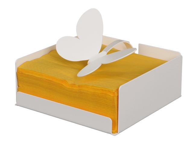 ArtieMestieri portatovagliolo Farfalla bianco thumb