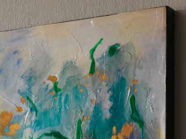 LOca Nera Quadro Astratto Colori particolare2 a thumb