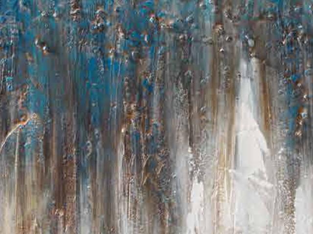 LOca Nera Quadro Astratto azzurro partic thumb