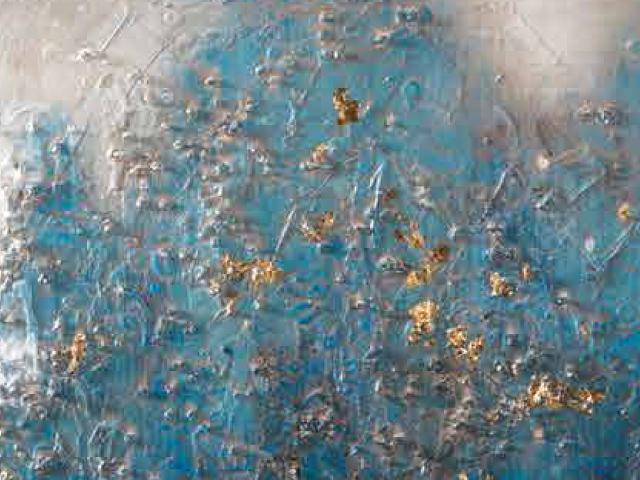 LOca Nera Quadro Astratto azzurro particolare thumb