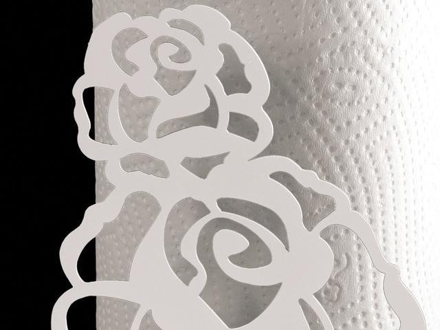 Portarotolo ArtieMestieri Rosa bianco p thumb