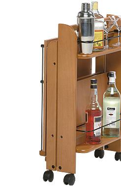 Carrello portavivande a 2 ripiani chiudibile foppapedretti for Carrello portavivande foppapedretti