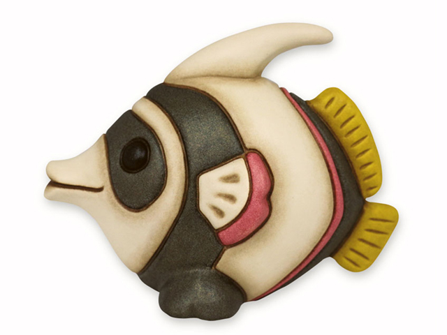 Soprammobile in ceramica dipinta a mano thun pesce corallo - Linea bagno thun ...