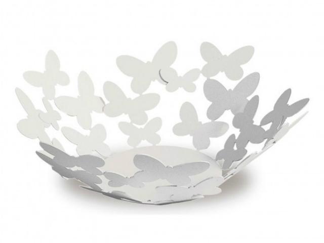 artiemestieri fruttiera butterfly piccola bianco thumb